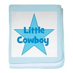 Little Cowboy baby blanket
