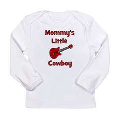 Mommy's Little Cowboy Long Sleeve Infant T-Shirt