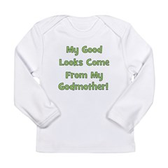 Good Looks From Godmother - G Long Sleeve Infant T