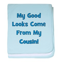 Good Looks from Cousin! - Blu baby blanket