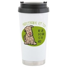 Funny Vet Tech Travel Coffee Mug