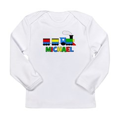 Train - MICHAEL Personalized Long Sleeve Infant T-