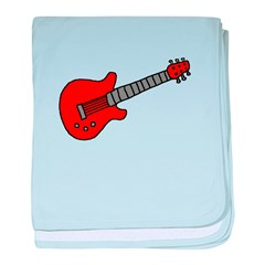 Guitar (Musical Instrument) D baby blanket