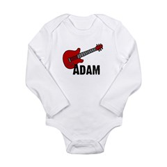 Guitar - Adam Long Sleeve Infant Bodysuit