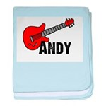 Guitar - Andy baby blanket