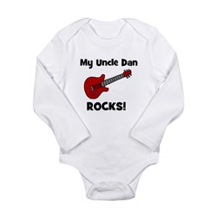 My Uncle Dan Rocks! Long Sleeve Infant Bodysuit