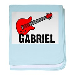 Guitar - Gabriel baby blanket