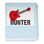 Guitar - Hunter baby blanket