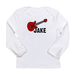 Guitar - Jake Long Sleeve Infant T-Shirt