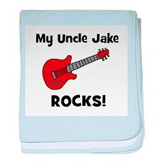 My Uncle Jake Rocks! guitar baby blanket