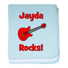 Guitar - Jayda Rocks! baby blanket