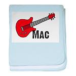 Guitar - Mac baby blanket