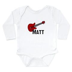 Guitar - Matt Long Sleeve Infant Bodysuit