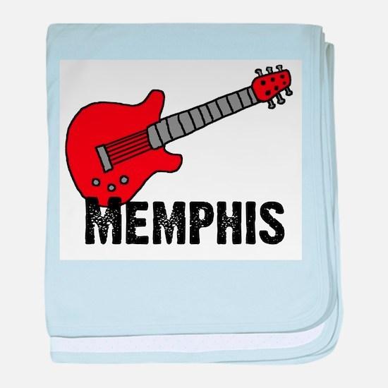 Guitar - Memphis baby blanket