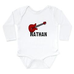 Guitar - Nathan Long Sleeve Infant Bodysuit