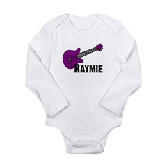 Raymie Guitar Gift Long Sleeve Infant Bodysuit