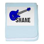 Guitar - Shane - Blue baby blanket