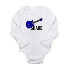 Guitar - Shane - Blue Long Sleeve Infant Bodysuit