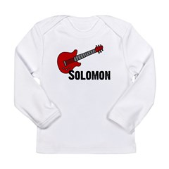 Guitar - Solomon Long Sleeve Infant T-Shirt