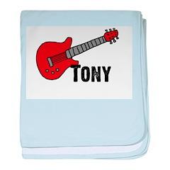 Guitar - Tony baby blanket