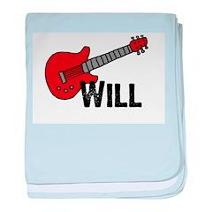 Guitar - Will baby blanket