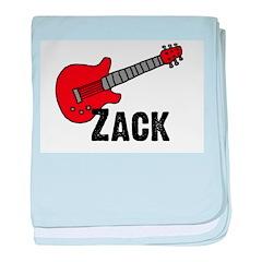 Guitar - Zack baby blanket