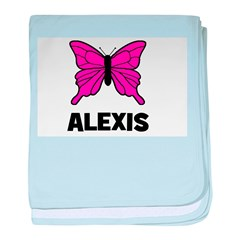 Butterfly - Alexis baby blanket