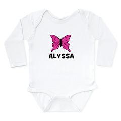 Butterfly - Alyssa Long Sleeve Infant Bodysuit