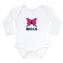 Butterfly - Becca Long Sleeve Infant Bodysuit