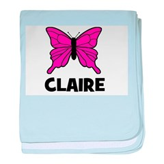 Butterfly - Claire baby blanket
