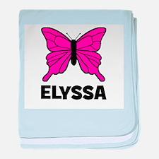 Elyssa - Butterfly baby blanket
