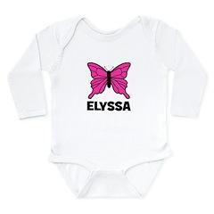 Elyssa - Butterfly Long Sleeve Infant Bodysuit