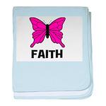 Butterfly - Faith baby blanket