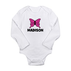 Butterfly - Madison Long Sleeve Infant Bodysuit