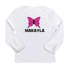 Butterfly - Makayla Long Sleeve Infant T-Shirt