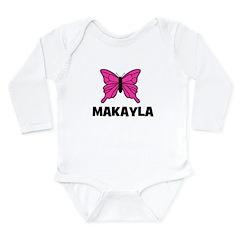 Butterfly - Makayla Long Sleeve Infant Bodysuit