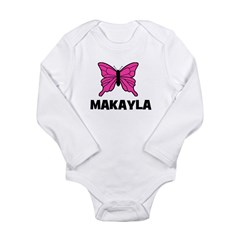 Butterfly - Makayla Long Sleeve Infant Bodysuit