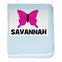 Butterfly - Savannah baby blanket