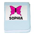 Butterfly - Sophia baby blanket