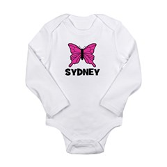 Butterfly - Sydney Long Sleeve Infant Bodysuit