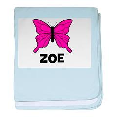 Butterfly - Zoe baby blanket