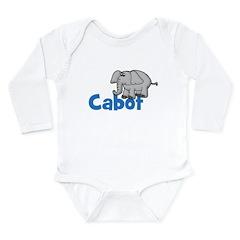 Elephant - Cabot Long Sleeve Infant Bodysuit