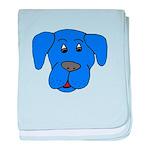 Puppy Dog Design (Dogs Blue) baby blanket