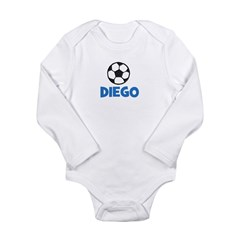 Soccer - Diego Long Sleeve Infant Bodysuit