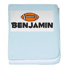 Benjamin - Football baby blanket