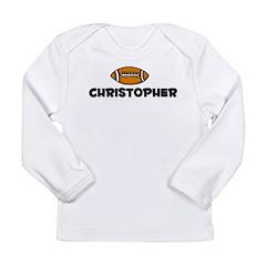 Christopher - Football Long Sleeve Infant T-Shirt
