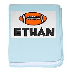 Ethan - Football baby blanket