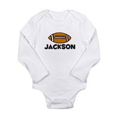 Jackson Football Long Sleeve Infant Bodysuit