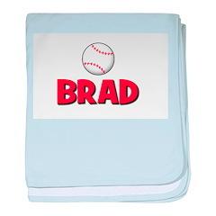 Brad - Baseball baby blanket