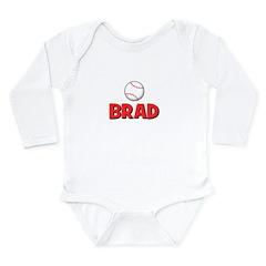 Brad - Baseball Long Sleeve Infant Bodysuit